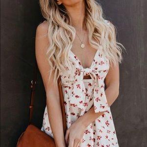 Storia: Be a peach floral babydoll dress